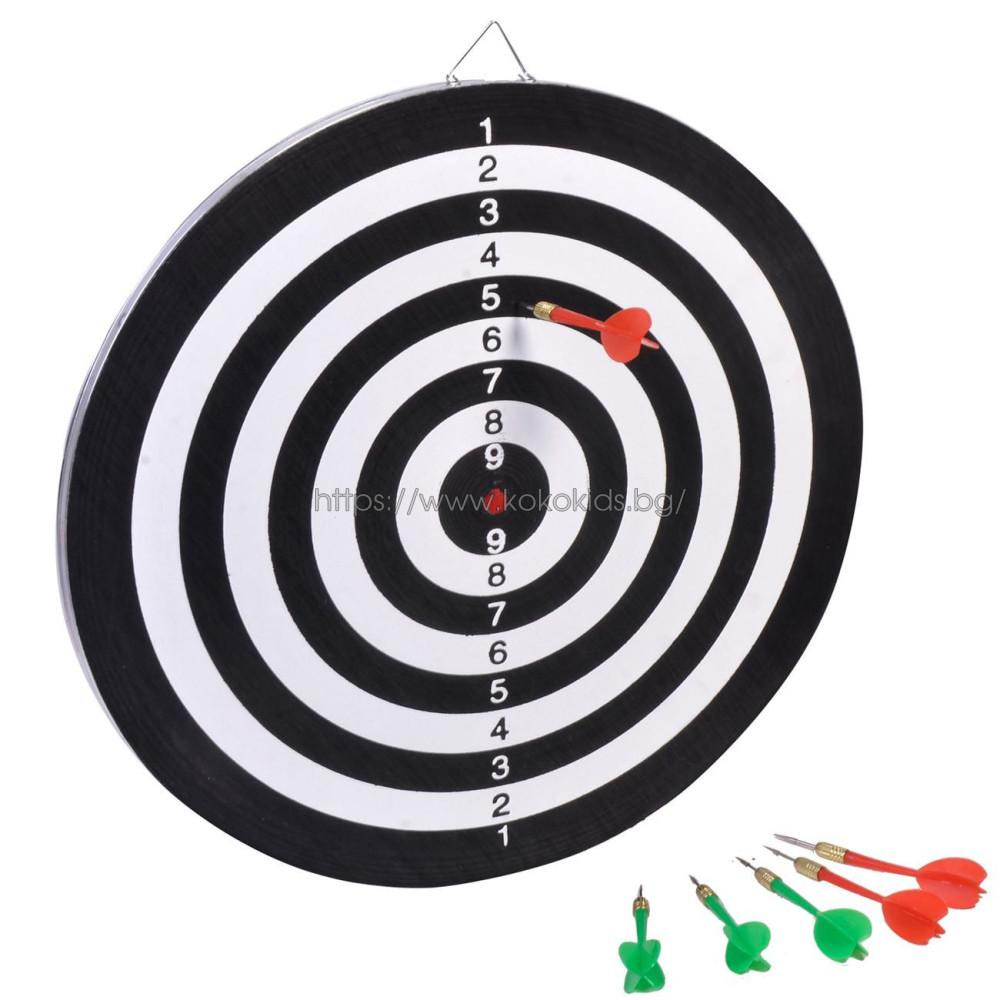 Дартс с две лица и 6 броя стрели