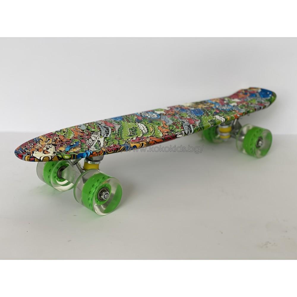 Скейтборд Abstract светещи гуми