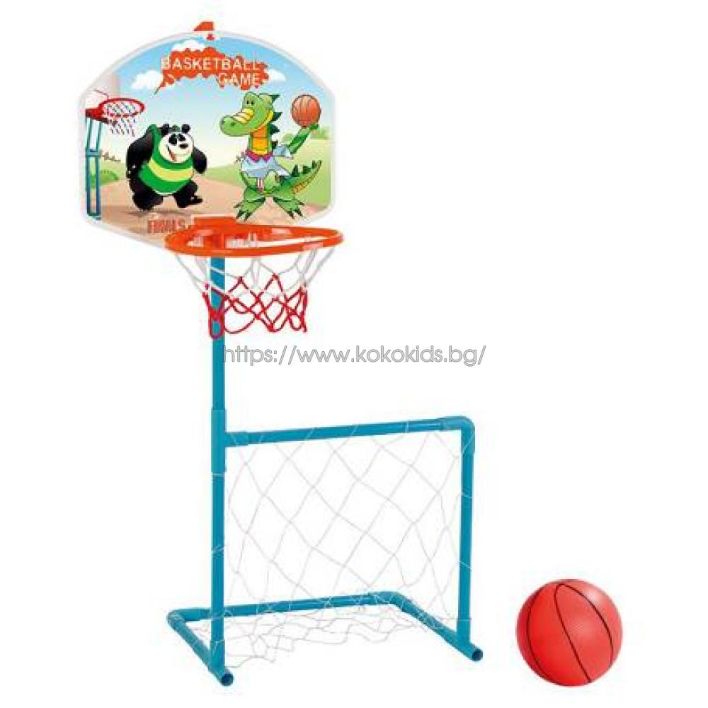 Баскетболен кош и футболна врата 2в1