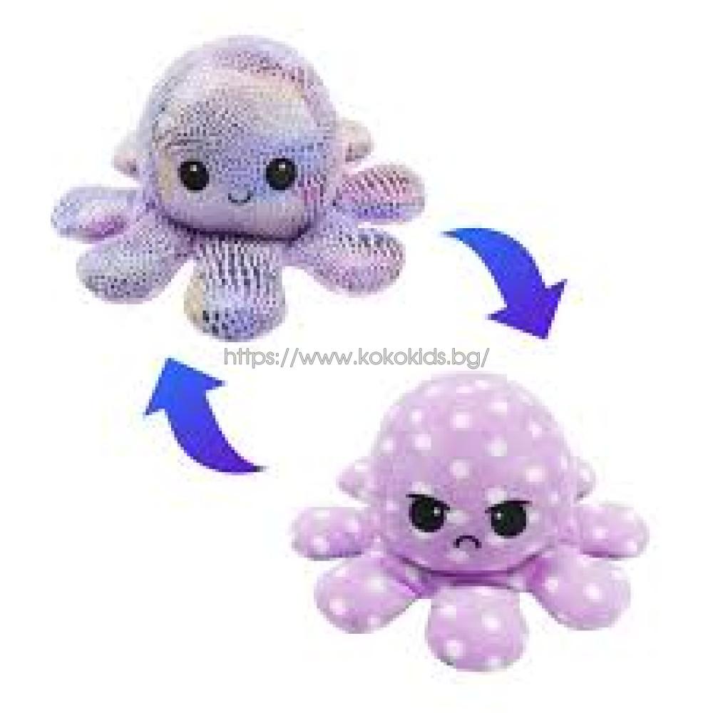 Плюшен октопод с 2 лица