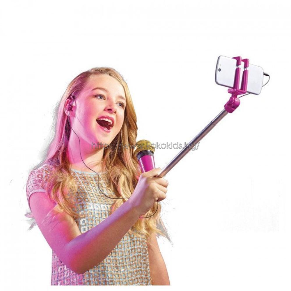 Микрофон със селфи стик