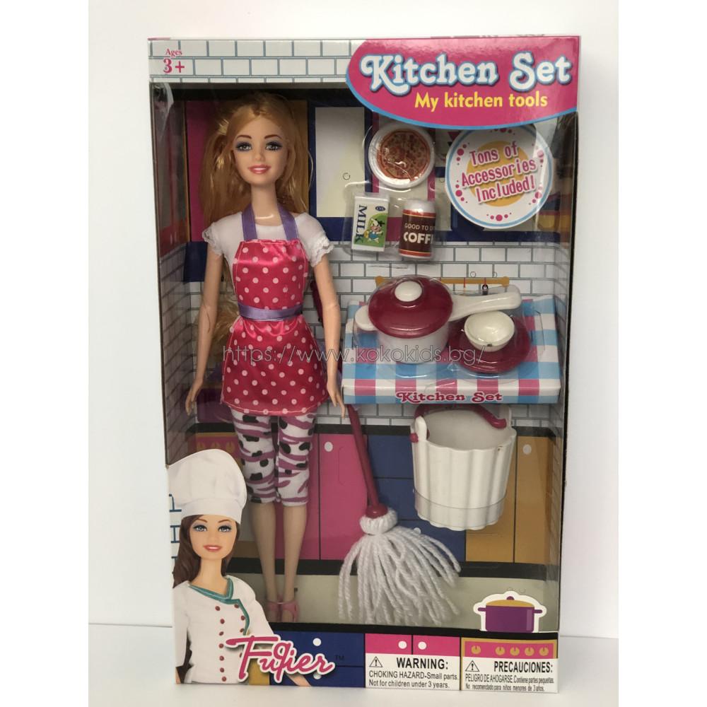 Кукла Барби Barbie Кухненски комплект