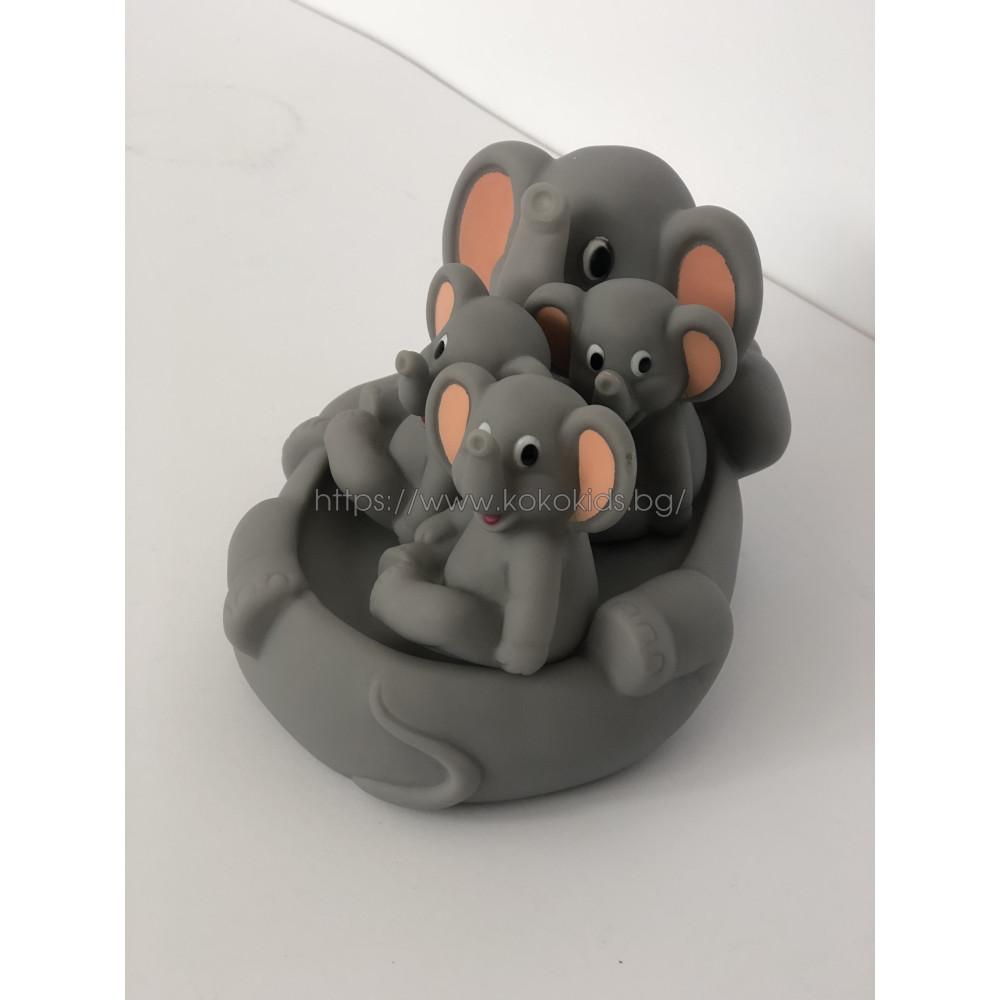 Гумени играчки за баня Слончета