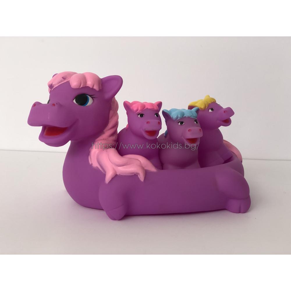 Гумени играчки за баня Понита