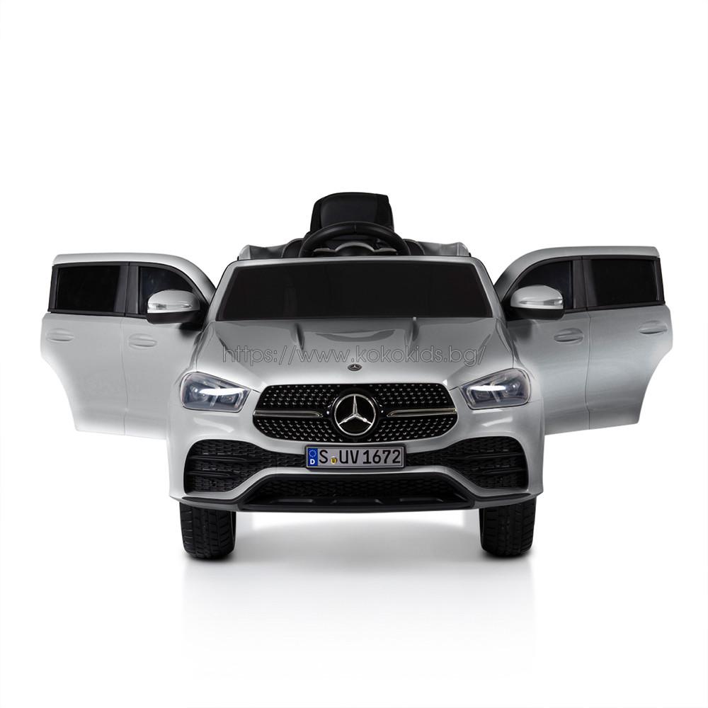Акумулаторен джип Mercedes GLE450 - мет. сребрист