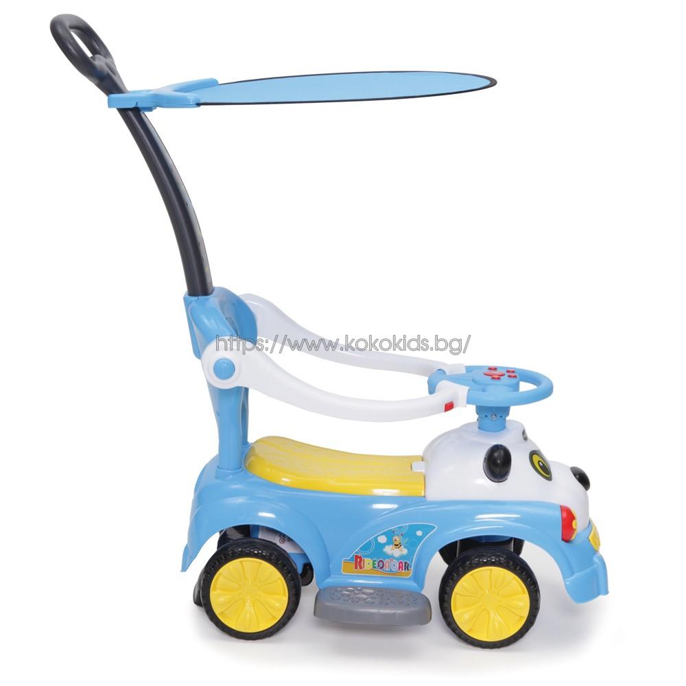 Кола за бутане с дръжка Panda - JY-Z02A
