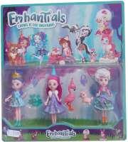 Комплект кукли с животинки EmhanTials 3 броя