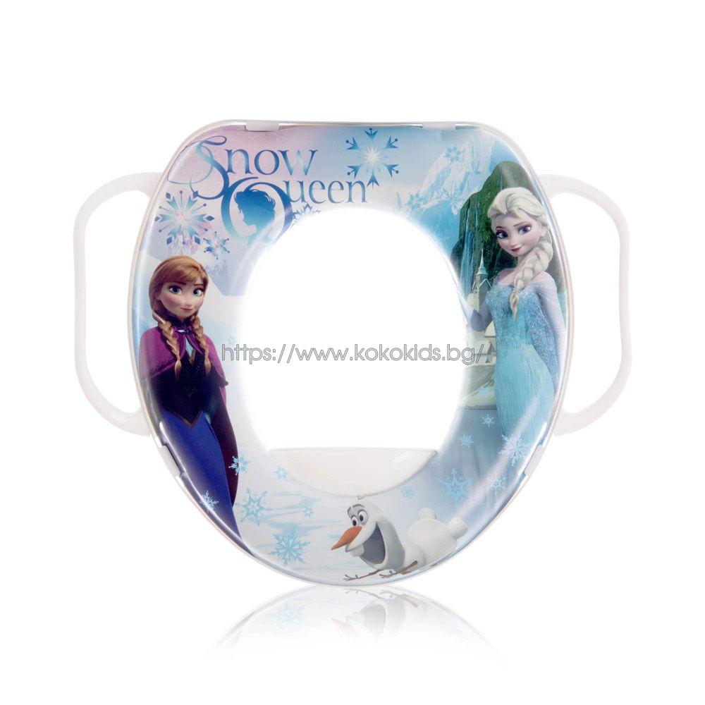 Мека приставка за тоалетна чиния с дръжки Disney Frozen