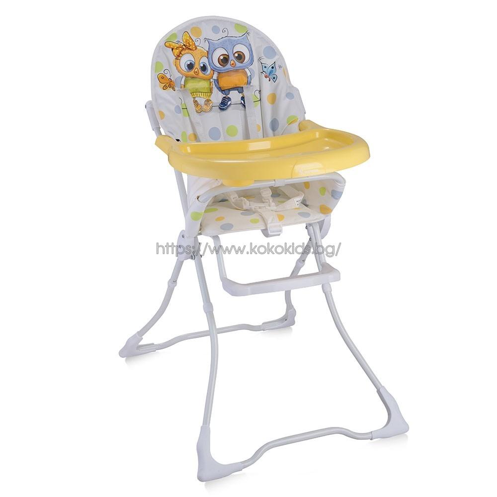 Стол за хранене CANDY White Baby Owls